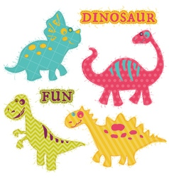Scrapbook Design Elements - ute Dinosaur Set vector image