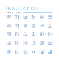 set color line icons insulation vector image