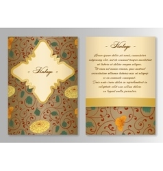 Set of brochure poster templates Vintage style vector image