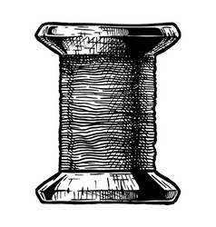 sewing thread bobbin vector image