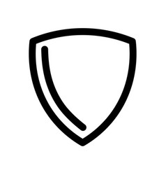 shield icon symbol of security safety and vector image