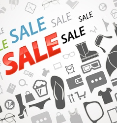 Shopping abstract icons vector image