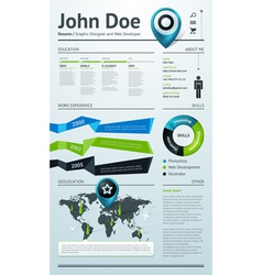 Simple template for your resume vector