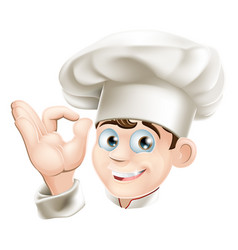 Smiling cartoon chef vector