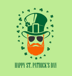 st patricks day holiday poster banner label vector image