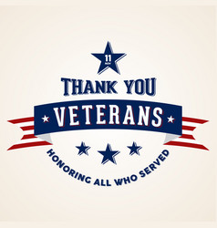 Thanks veterans vector