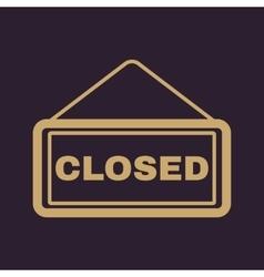 The closed icon Locked symbol Flat vector