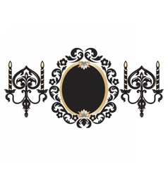 Vintage Frame with lamps vector image