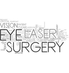 What is laser eye surgery and how can it help you vector