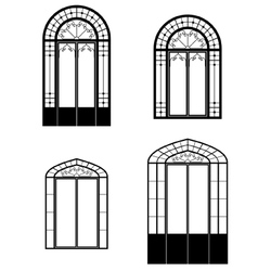 windows and doorwindows vector image