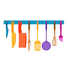 With kitchen utensils vector