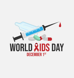 World aids day 1st december world aids day hiv vector