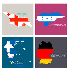 World map-countries in color on white background vector