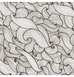 abstract hand-drawn waves seamless pattern vector image