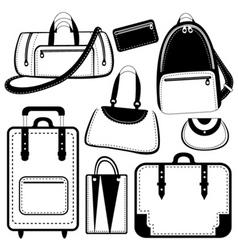 bag set vector image vector image