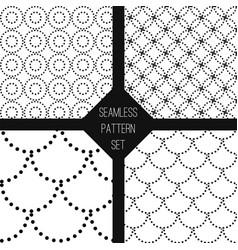 black white seamless pattern set vector image