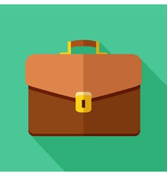 Colorful briefcase icon in modern flat style with vector image vector image