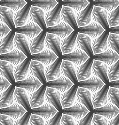 Monochrome hatched three pedal flowers small vector image vector image