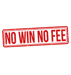 no win no fee grunge rubber stamp vector image