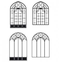 windows and door windows vector image vector image