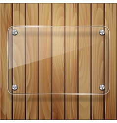 Wooden texture with glass framework vector image vector image