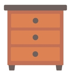 Brown bedside table vector image vector image