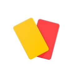Football yellow and red card vector image