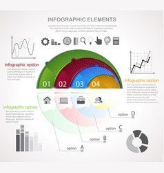 infographic template and icons vector image