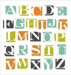 modern alphabet poster design vector image