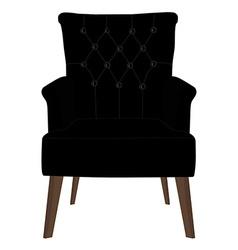 Modern black armchair vector image vector image
