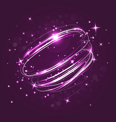 neon crossed circles light lines effect vector image
