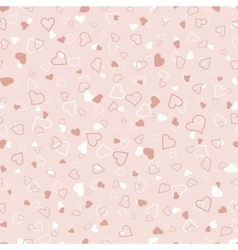 Pink and white hearts seamless pattern valentines vector image vector image