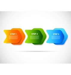 Design with steps vector image