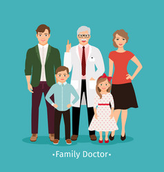 Family doctor medicine concept vector
