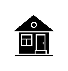 house simple with door icon vector image vector image