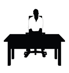 man silhouette in white t shirt sitting on chair vector image