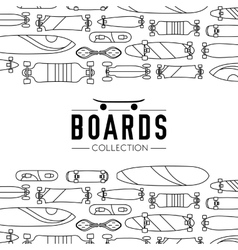 on the theme of skateboard and vector image