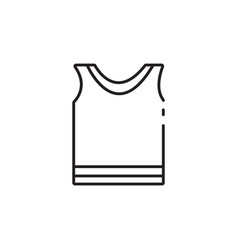 thin line sportswear icon vector image vector image