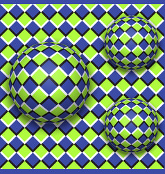 balls roll down abstract seamless pattern with vector image