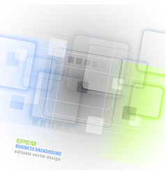 Business abstract background with square pattern vector
