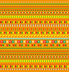 cinco de mayo seamless pattern with a traditional vector image
