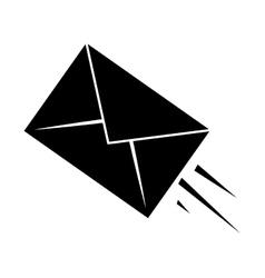 express mail email envelope pictogram vector image