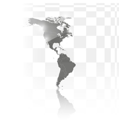 North and South America map background vector image vector image