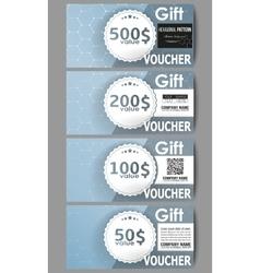 Set of modern gift voucher templates Chemistry vector image