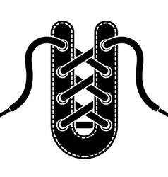 shoe lace symbol vector image vector image