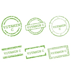 Vitamin C stamps vector image vector image
