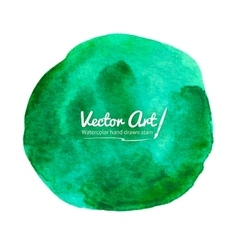 Watercolor green circle vector image