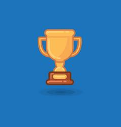 Winner cup award on a blue vector