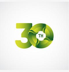 30 th anniversary celebrations green gradient vector