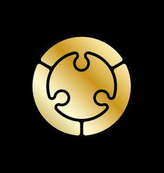 abstract circle logo design element golden vector image